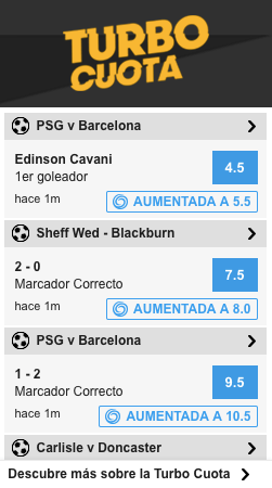 Turbocuota Betfair
